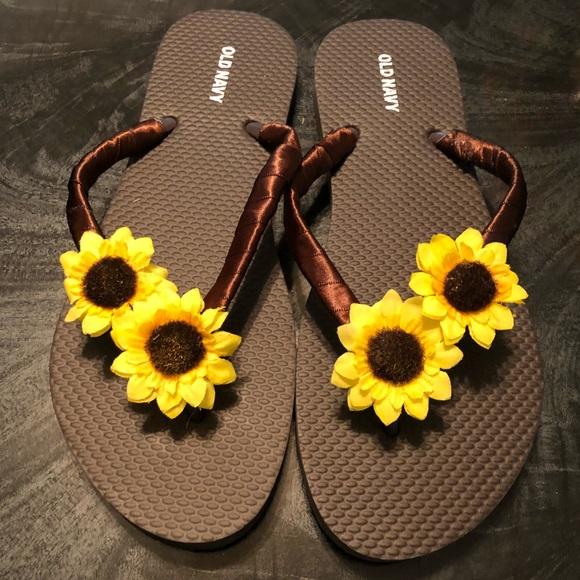Sunflower Embellished Flip Flops | Poshmark